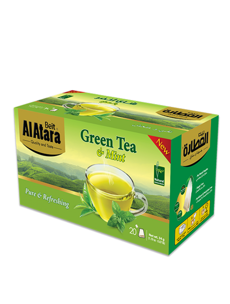شاي أخضر بالنعناع
