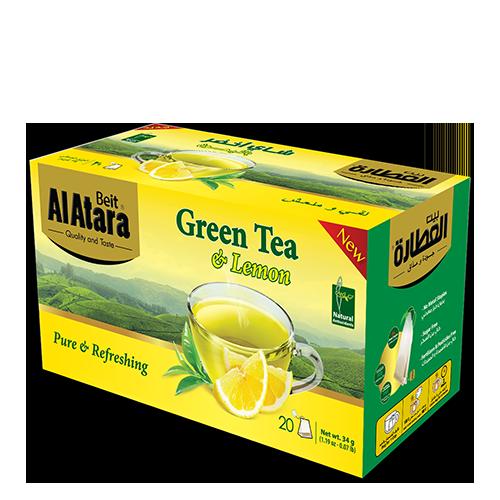 شاي اخضر بالليمون